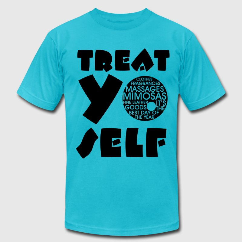 Treat Yo Self  - Men's Fine Jersey T-Shirt