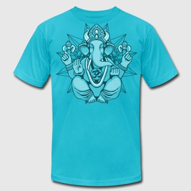 Lord Ganesh Halftone - Men's Fine Jersey T-Shirt