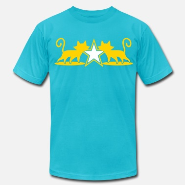 5 Point Star military army cats with 5 point star - Men's  Jersey T-Shirt