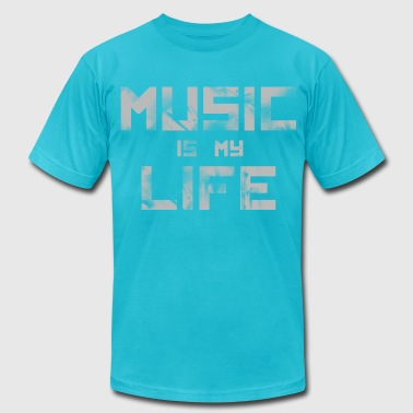 Music Is My Life DJ - Men's Fine Jersey T-Shirt