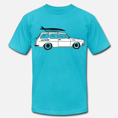 Surfer Girl Type 3 Surfer Car - Men's Fine Jersey T-Shirt