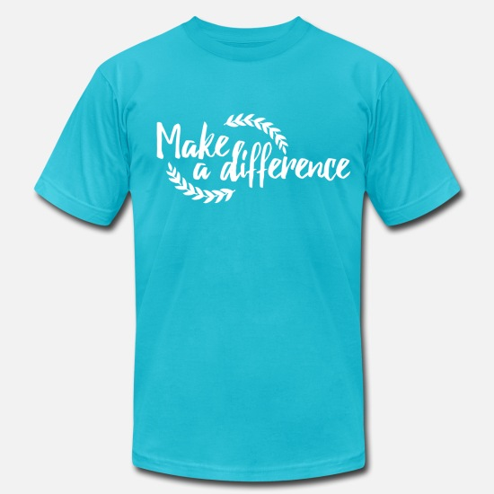 Difference T-Shirts - Make a Difference - Men's Jersey T-Shirt turquoise