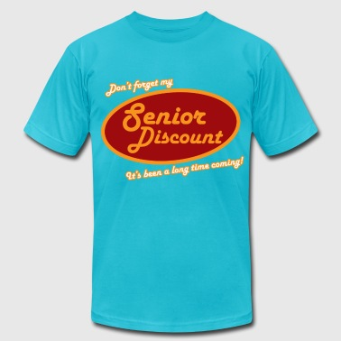 Don't Forget My Senior Discount - Men's Fine Jersey T-Shirt