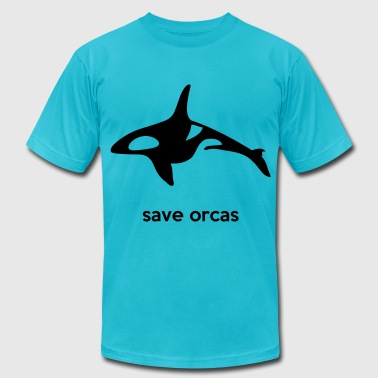 save orcas - Men's Fine Jersey T-Shirt