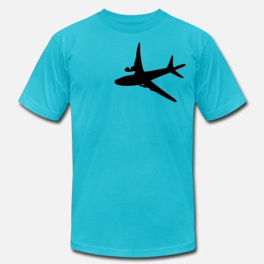 Air Plane Airplane vector art  - Men's Fine Jersey T-Shirt
