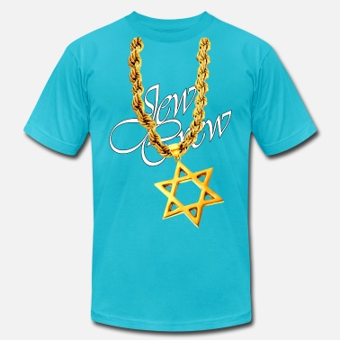 Big Gold Chain Gold Star of David - Men's Jersey T-Shirt