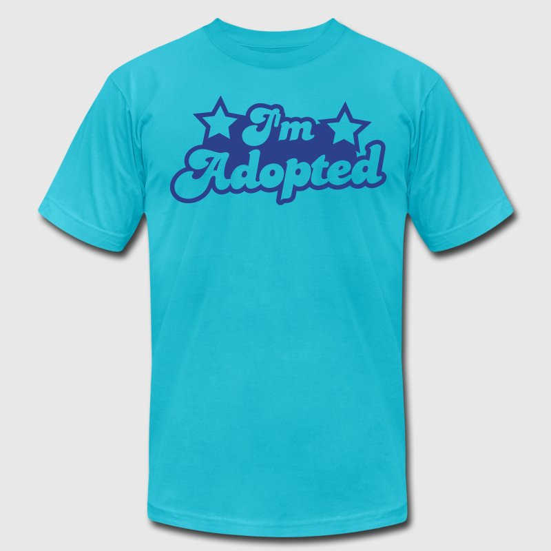 I'm Adopted with cute little baby stars - Men's Fine Jersey T-Shirt