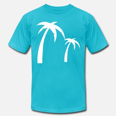 Summer Vacation Palm - Men's  Jersey T-Shirt