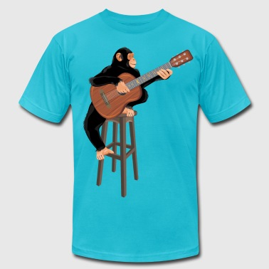 Monkey Bars Monkey with guitar - Men's Fine Jersey T-Shirt