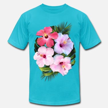 Hibiscus Flower AD Flowers - Men's  Jersey T-Shirt
