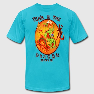 Year Of The Dragon-2012 Oval - Men's Fine Jersey T-Shirt