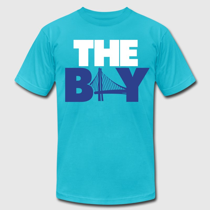 The Bay Yellow - Men's Fine Jersey T-Shirt