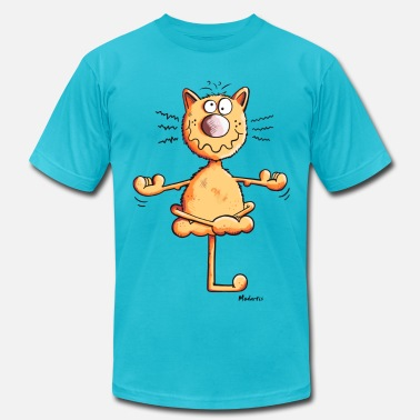 Cats Yoga Yoga Cat - Men's  Jersey T-Shirt
