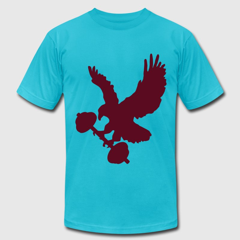 Eagle holding barbell - Men's Fine Jersey T-Shirt