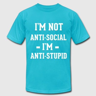 Antisocial - Men's Fine Jersey T-Shirt