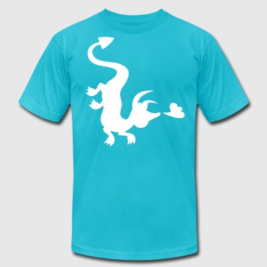 Fly Down dragon flying down the shirt - Men's Fine Jersey T-Shirt