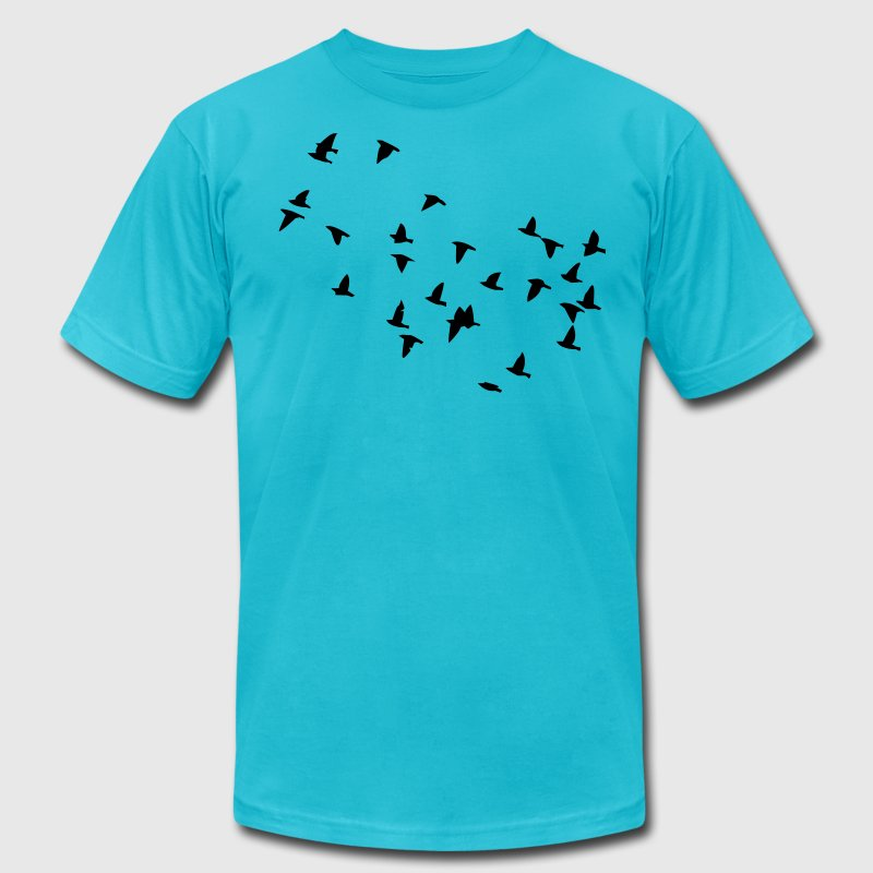 Flock of Birds - Men's Fine Jersey T-Shirt