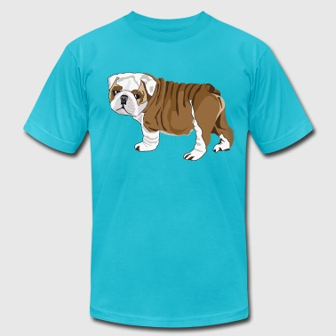 Bulldog Puppy - Men's Fine Jersey T-Shirt