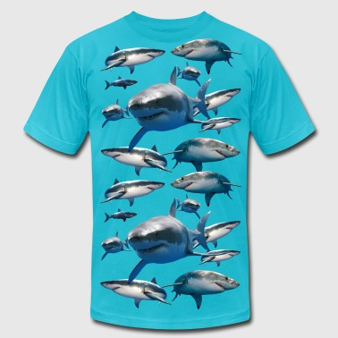 SHARKS - Men's Fine Jersey T-Shirt