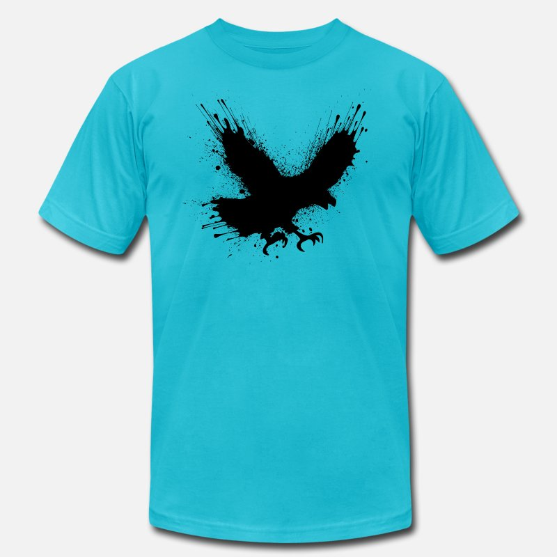 Bird T-Shirts - Street art bird - Men's Jersey T-Shirt turquoise