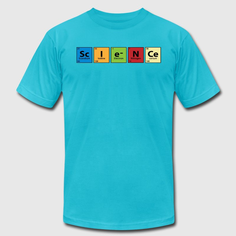 Periodic Table Science - Men's Fine Jersey T-Shirt
