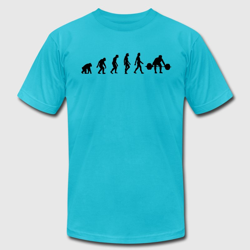 The Evolution of Weightlifting - Men's Fine Jersey T-Shirt