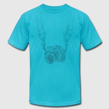 Camera With Strap - Men's Fine Jersey T-Shirt
