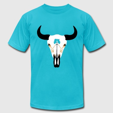 Bison Skull Buffalo Head, Bison - Men's Fine Jersey T-Shirt