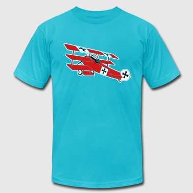 Fokker airplane first world war red baron fokker roter - Men's Fine Jersey T-Shirt