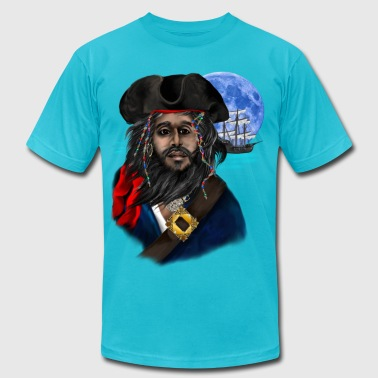 Pirate and Ship - Men's Fine Jersey T-Shirt