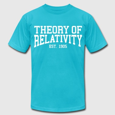 1905 Theory of Relativity - Est. 1905 (over-under) - Men's Fine Jersey T-Shirt