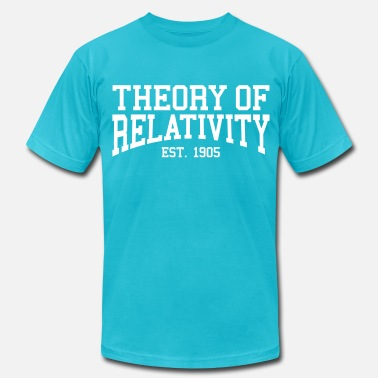 1905 Theory of Relativity - Est. 1905 (over-under) - Men's  Jersey T-Shirt