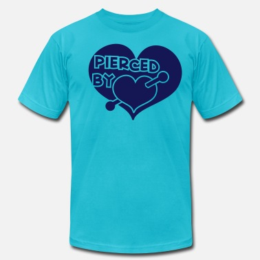 Nipple Piercing pierced by love  - Men's Fine Jersey T-Shirt