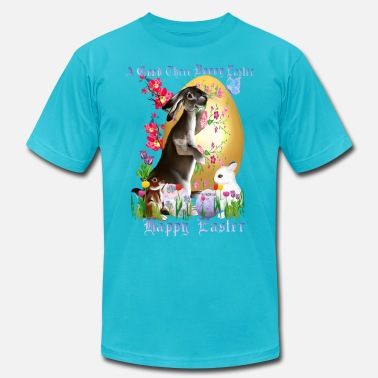 Vernal Equinox A Good Three Bunny Easter (lettered) - Men's Fine Jersey T-Shirt