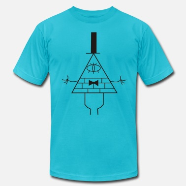 Gravity Gravity Falls - Bill Ciph - Men's Jersey T-Shirt