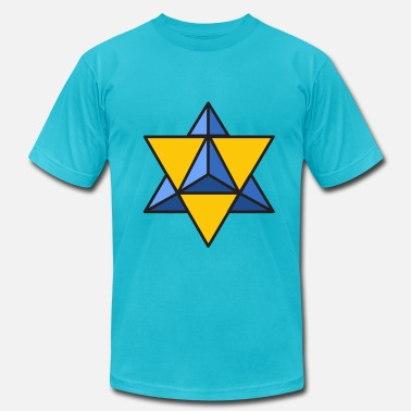 Sacred Geometry Merkaba Merkaba - yellow blue - Men's  Jersey T-Shirt