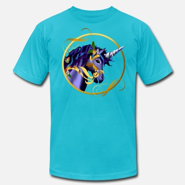 Shimmy Another Magical Christmas Unicorn Face - Men's  Jersey T-Shirt