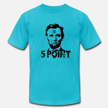 5 Points Abraham Lincoln 5 point star pentagram  - Men's  Jersey T-Shirt