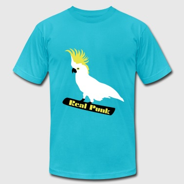 Real Punk, Punk Bird, Cockatoo, Parrot - Men's Fine Jersey T-Shirt