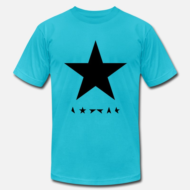 Camouflage T-Shirts - david bowie blackstar tshirt - Men's Jersey T-Shirt turquoise