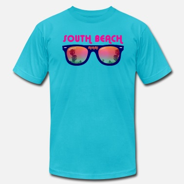 Miami South Beach Miami sunglasses - Men's  Jersey T-Shirt