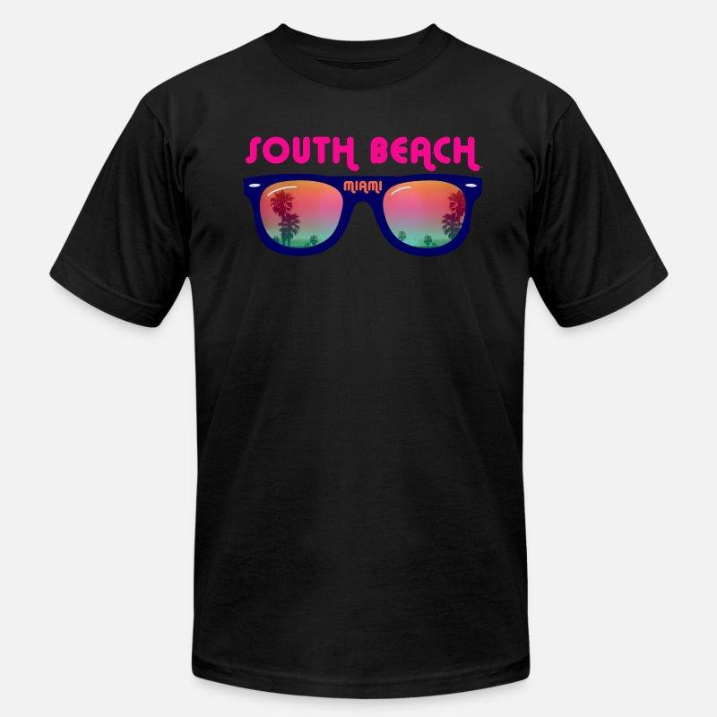 brand new 39ce5 3c426 South Beach Miami sunglasses Men's Jersey T-Shirt - black