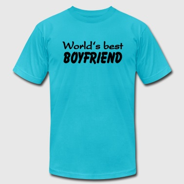 Best Boyfriend In The World World's best Boyfriend - Men's Fine Jersey T-Shirt