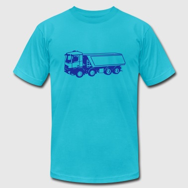 dump truck 2 (1 color) - Men's Fine Jersey T-Shirt
