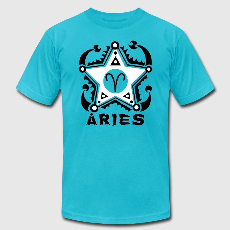 Aries Zodiac Sign Art - Men's Fine Jersey T-Shirt