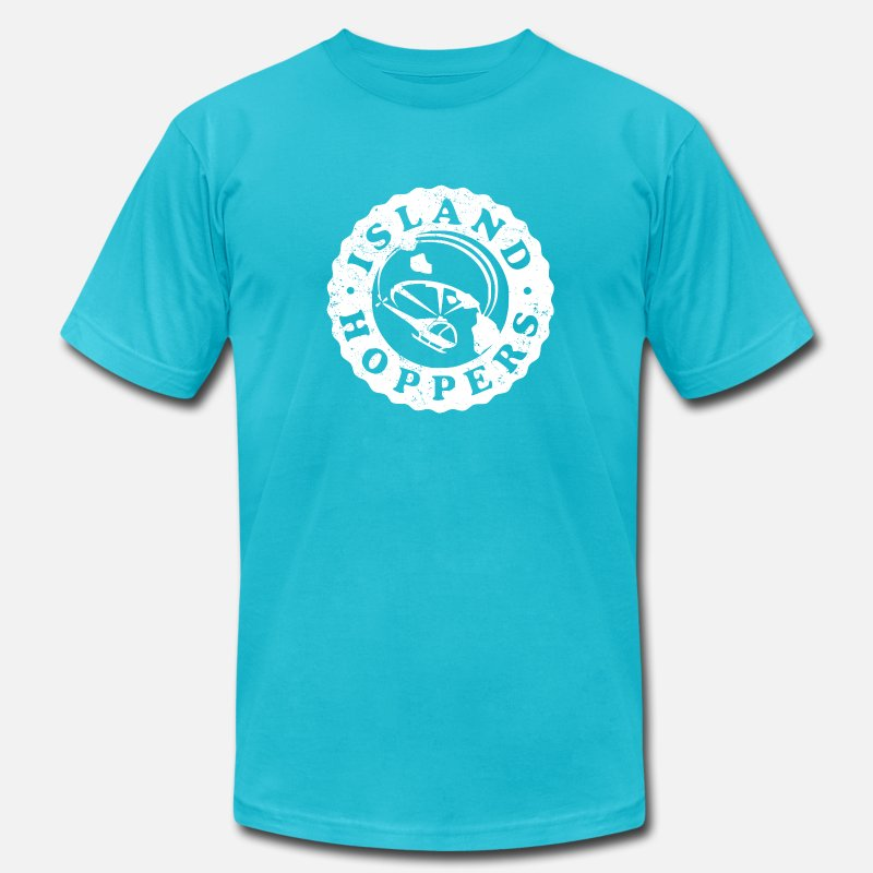 Island Hoppers T-Shirts - Island Hoppers - Men's Jersey T-Shirt turquoise