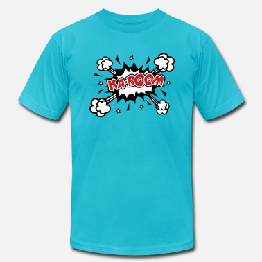 Comic Books KABOOM, comic speech bubble, cartoon, explosion - Men's  Jersey T-Shirt