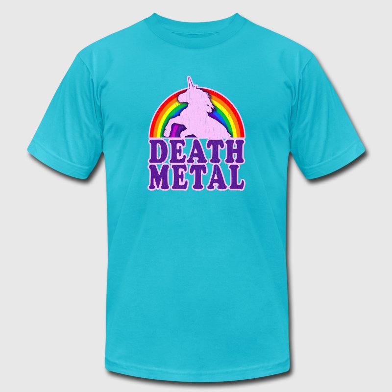 Funny Death Metal Unicorn: vintage distressed look - Men's Fine Jersey T-Shirt