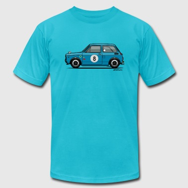 Honda N360 Blue Racing Kei Car - Men's Fine Jersey T-Shirt