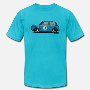 60s Car Racing Honda N360 Blue Racing Kei Car - Men's  Jersey T-Shirt